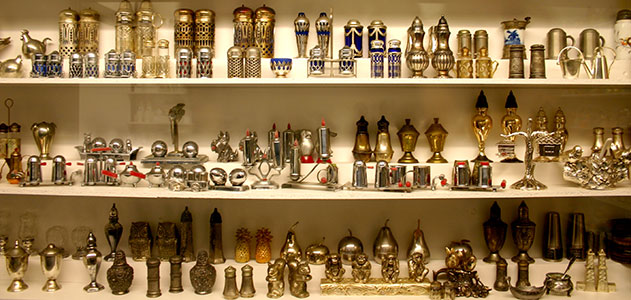 Andrea Ludden's collection of over 40,000 pairs of salt and pepper shakers started completely by chance when Ludden bought a pepper mill at a garage sale in the mid-1980s. (Courtesy of Derek Workman)